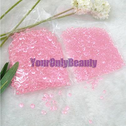 10000pcs / 4.5mm 분홍색 / 투명 다이아몬드 색종이 아크릴 비즈 테이블 파티 장식 - 결혼식 호의에 대한 무료 배송 - 무료 배송