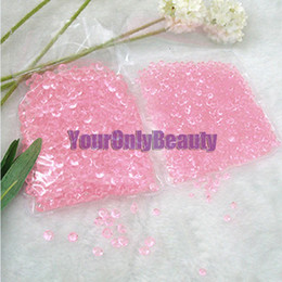 Wholesale Wedding Table Scatter Decorations - 10000pcs set 4.5mm Pink Transparent Diamond Confetti Acrylic Beads Table Scatter For Wedding Favor Party Decor--Free Shipping
