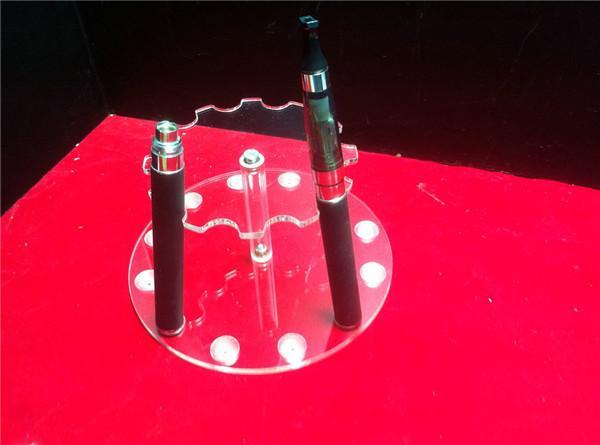 Akryl E cig Display Showcase Case Rökning Förångare Clear Stand Show Shelf Holder Roterbar Rack Box för E Cigarett Droppspets Ecig DHL