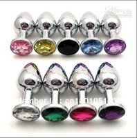 Wholesale Male Buttplug - Small size Attractive Jewelry diamond stainless steel buttplug butt anal plugs 0001