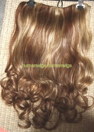 $enCountryForm.capitalKeyWord Australia - One Piece Human Hair Clip in on Extension BODY WAVE 4 27,100% human hair made,18""
