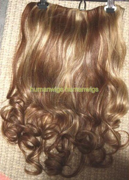 Fermaglio per capelli umani One Piece in / on Extension BODY WAVE 4 / 27,100% capelli umani realizzati, 18