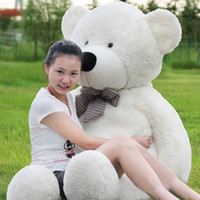 teddy-puppe große größe großhandel-Nagelneuer 100cm weißer lebensgroßer Puppe-Plüsch-großer Teddybär für Verkaufs-riesigen großen weichen Spielzeug-Teddybären Valentines / Weihnachtsgeburtstagsgeschenk