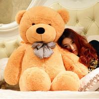 teddy-puppe große größe großhandel-Großhandel 100cm braun lebensgroße Puppe Plüsch großer Teddybär zum Verkauf Riesen große Plüschtiere Teddybären Valentinstag / Weihnachten Geburtstag DayGift