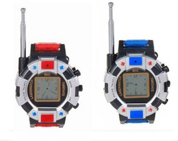 Wholesale Toy Walkie Talkies - Free Shipping 2 Pieces Lot New Digital Walkie Talkie Watches Toys For Kids Interphone Toy with Antenna