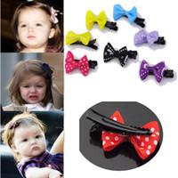 Wholesale China Hair Ribbon - 10X New Toddler Girl Baby Hair Clip Ribbon Bow Kids Satin Bowknot Headband Salon Free Shipping [HPX41M*10]