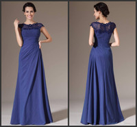 Wholesale Design Fashion Formal Dress - 2014 formal fashion new design elegant mother of the bride dresses crew floor length zipper beads custom made high quality free shipping