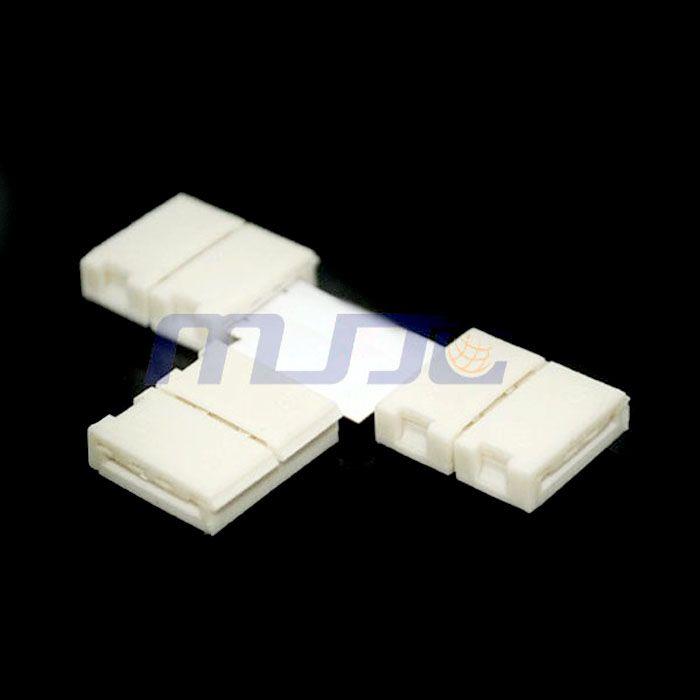 10 x Strip to Strip T Shape Conectores sin soldadura para 8MM 3528 / 10MM 5050 LED Strip Light
