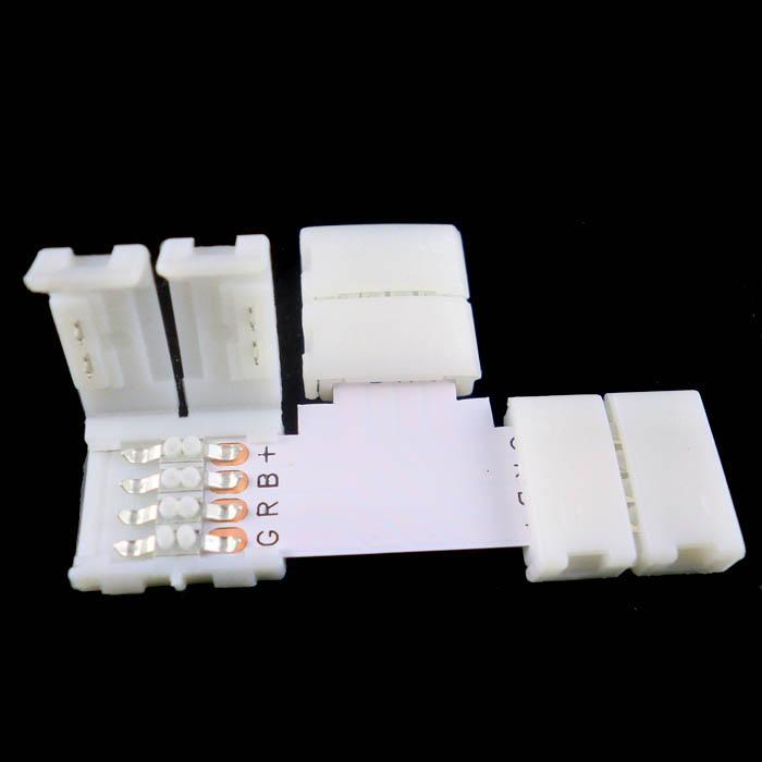 8mm / 10mm t Form 2Pin-kontakt för enkelfärg 3528/5050 LED-remsa Ingen lödning