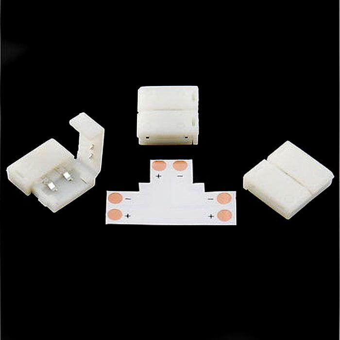 10 x remsa till band t Form lödfria kontakter för 8mm 3528 / 10mm 5050 LED-bandljus