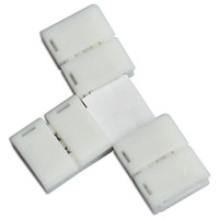 t полоски оптовых-10 x полоса для полосы T форма Solderless разъемы для 8 мм 3528/10 мм 5050 светодиодные полосы света