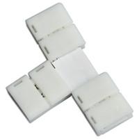 conectores de tira led de 8mm al por mayor-10 x tira para pelar conectores sin soldadura en forma de T en 8MM 3528 / 10MM 5050 tira de luz LED