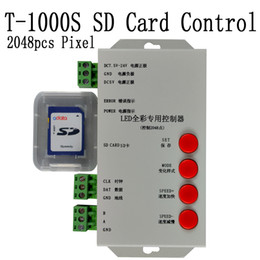 led sd card controller UK - 1pcs Free Shipping DC5-24V CD card DMX512 Controller LEDprogrammable with SD card Support 66 kinds IC driver for Pixel RGB led light