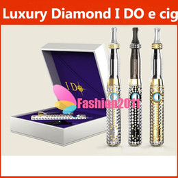 Wholesale Ego Diamond Battery Dhl - I DO Luxury Diamond Electronic Cigarette Starter Kit First Publish Limited Edition for Ego 650mAh Battery DHL Free 002132