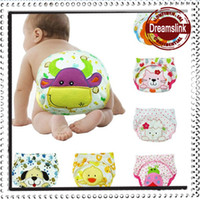 Wholesale Sale Washable Diaper - 24 pieces Free shipping! Whole sale with different colors waterproof baby diapers baby diapers Training pants high quality