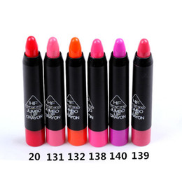 Wholesale Tin Pens - Lipsticks High Quality The Balm High Pigment 12pcs 6Colors Rotatable Lipstick Pencil Pen Crayon Lipstick Set Lip Balm Tin Makeup H9019