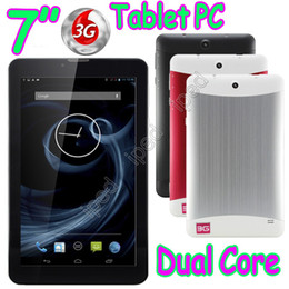 "7"" 3G Dual Core Phone Calling Tablet PC MTK6572 Android 4.2 WCDMA GSM Bluetooth Capacitive Touch Screen Wifi 2 Camera Dual Sim Card Phablet"