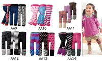 Wholesale Dots Tight - Fedex DHL EMS Ship New Baby Nissen PP Pants Kids Leggings Pants Children Casual Pants 24pc lot Toddlers Tights Accept Size Choose 0-4T Melee