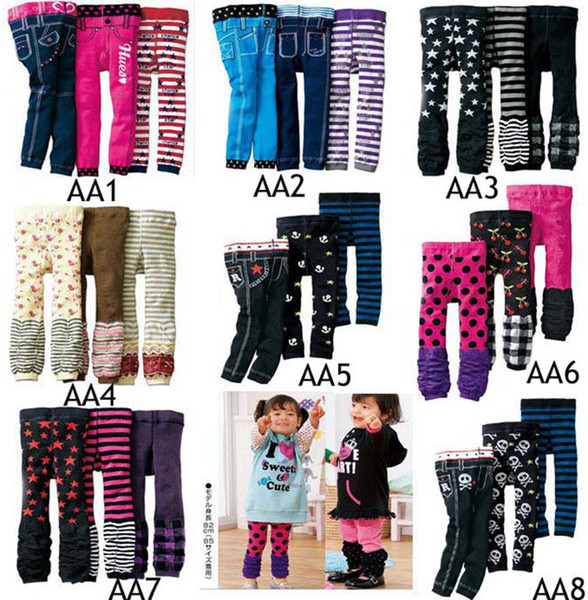 Sıcak Satış Yeni Bebek Nissen PP Pantolon Çocuk Tayt Pantolon Çocuk Rahat Pantolon 12 adet / grup Toddlers Tayt Bir lot = (4 Boyut * Stil) Yakın