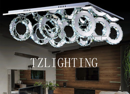 $enCountryForm.capitalKeyWord Canada - K9 Crystal Ceiling Lamp Round Stainless Steel Pendent Lamp Modern Simple LED Living Room Chandelier Light