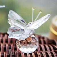 Wholesale Wedding Favors Models - Lovely Crystal Model Angel Bear Butterfly Horse Shoes Snowman Stroller Wedding Favors Valentines Gift 5pcs lot SH416
