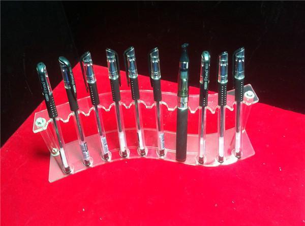 Akryl E cig Display Showcase Case Rökning Förångare Pen Clear Stand Show Shelf Holder Rack Box för Clearomizer Atomizer Ecig Cigarette DHL