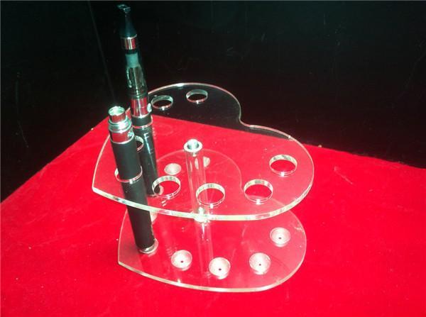 Exhibición de acrílico e cig vitrina escaparate fumar vaporizador pluma soporte claro mostrar estante titular caja de rack para clearomizer atomizador ecig cigarrillo DHL
