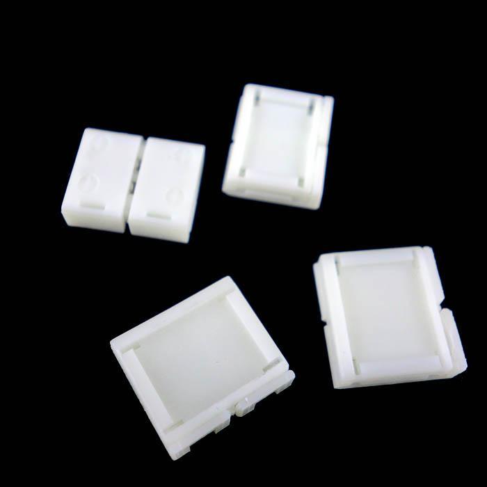 100 stücke 8 MM 2PIN 10mm 4PIN PCB Solderless Connectors Adapter für SMD 5050 3528 RGB Einfarbige LED Streifen Licht