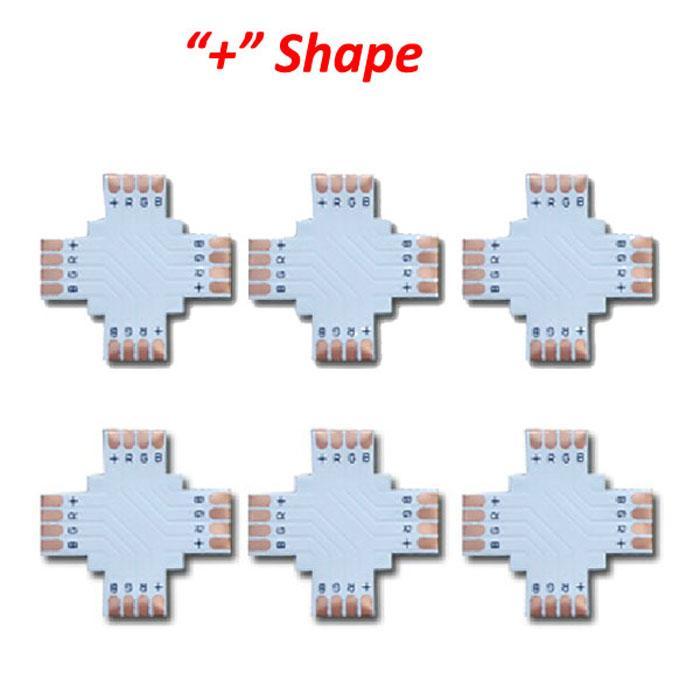 X 5050 RGB 4PIN till 4 PIN-kontakt + form med klämma 10 mm RGB LED-remsa lödfri