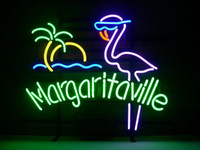 NUEVO JIMMY BUFFETT MARGARITAVILLE PARADISE ROSA FLAMINGO NEON LIGHT BEER SIGN
