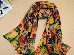 Wholesale Scarfs For Cheap - Chiffon Scarves For Women Monroe Image Cheap Size 160CM*50CM 10pcs Lot Free Shipping 0313S6