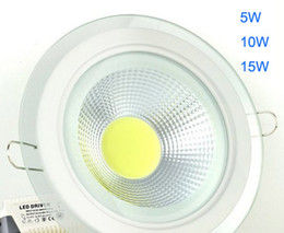 2014 COB LED Down Light 5W 10W 15W Super brillante Inicio bombillas 85-265V Lámpara interior Luces blanco cálido Cool blanco downlights CE ROSH