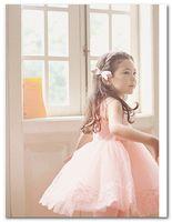 Wholesale Korean Children Party Dress - Girls princess dress Fashion korean children Lace tulle Sleeveless Dress kids tutu party dress beige pink 3081