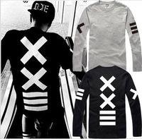 hba gömlek uzun kollu toptan satış-Ücretsiz kargo yeni satış hiphop PYREX VISION 23 tshirt == XX baskılı T-Shirt HBA tişört uzun kollu t gömlek% 100% pamuk 6 renk