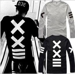 Imprimir xx online-Envío gratis nueva venta hiphop PYREX VISION 23 camiseta == XX impreso Camisetas HBA camiseta manga larga camiseta 100% algodón 6 color
