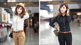 Wholesale Microfiber Yard - Wear long-sleeved white shirt shirt big yards dress 2014 new women's autumn and winter Slim primer shirt