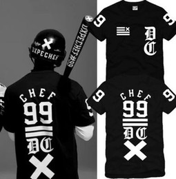 Wholesale chef prints - Free shipping Chinese Size S--XXXL retail Tee shirt chef classic fork 99 digital hiphop skateboard short sleeve t-shirt 100% cotton 6 color