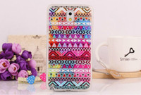 Wholesale Tribal Hybrid - Colored Painting Flower Girl Flag Pairs Tower Hybrid Tribal Silicone TPU Case Cover for Samsung Galaxy Note 3 N9000 Note3 customized Accept