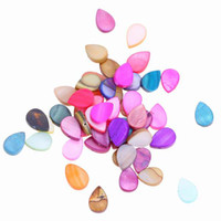 Дизайнер Loose Shell Beads Drop Shape Jewelry Ornament Bead For Bracelet Necklace DIY ARC7 * 50