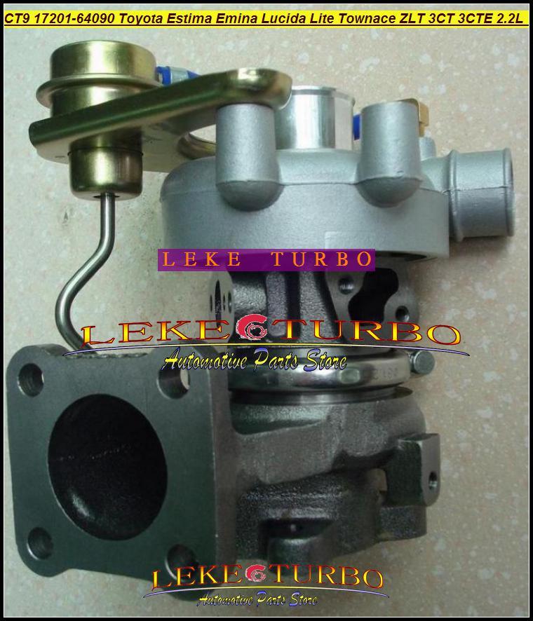 CT9 17201-64090 17201 64090 Turbo Turbine Turbocharger For TOYOTA Lite Townace Town ace Lucida Estima Emina ZLT 3CTE 3CT 2.2L 90HP