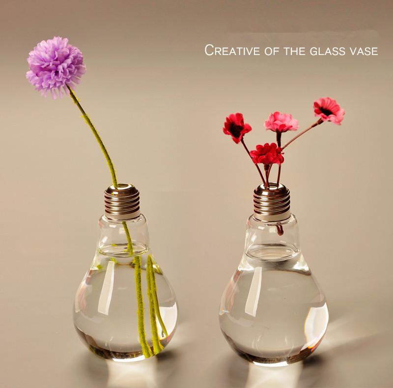 Grosshandel 2 Teile Paket Glas Vasen Dekoration Birne Vasen