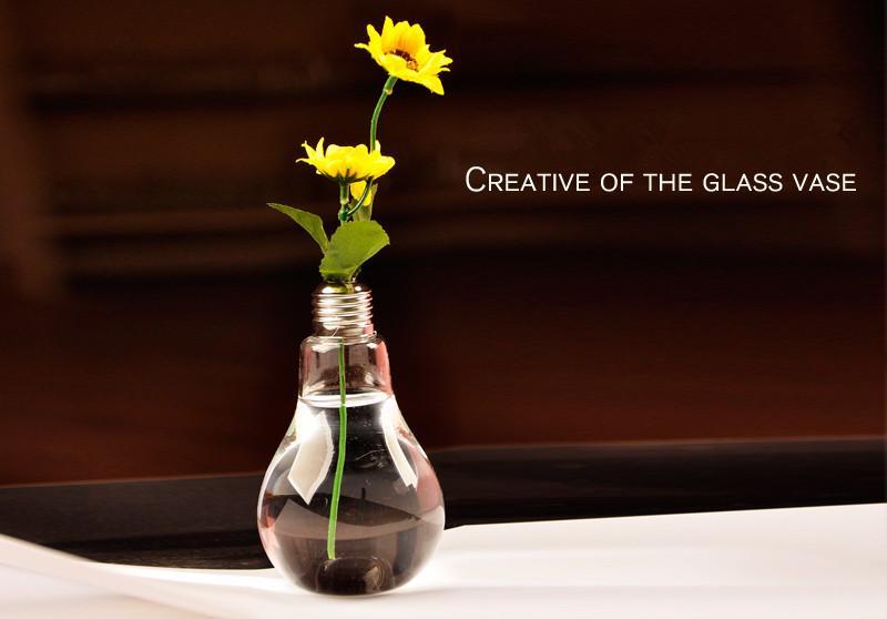 2 unidades / pacote vasos de Vidro decoração de casa Lâmpada vasos decoração da festa de casamento claro vasos de flores lâmpada vaso decoração vasos pendurados plantadores design simples