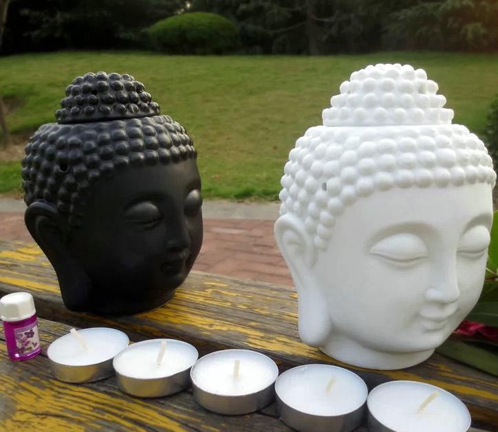 casa decoração fragrância lâmpadas Buda cabeça design casa decoração fragrância garrafa fazer casa mais beautfiul