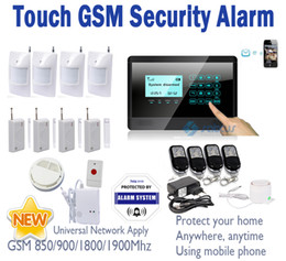 Wholesale Wireless Gsm Text - NEW Wireless GSM SMS TEXT Touch Keypad Home House Alarm System Emergency Panic 850 900 1800 1900MHz SG-322
