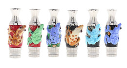 Wholesale Kanger Glass - Frog Style Drip Tip 2014 Latest Stainless Steel Drip Tips with Glass Frog drip tip EGO 510 Atomizer Mouthpieces Fit Kanger Protank DCT EVOD