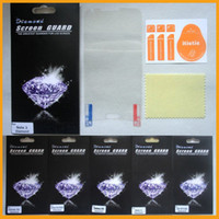 Wholesale S3 Screen Protectors - Diamond Bling Screen Protector For iPhone 4 5 5S 5C Galaxy S5 S4 S3 Note 2 3 Anitiglare Crystal Clear Screen Guard & Retail Package Free DHL