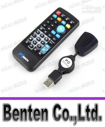 LLFA4398 Free shipping Brand New With Retail Box Universal USB PC IR Remote Control Controller for PC Laptop Computer XP Vista Win7 AC02