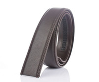 Wholesale Men Wide Leather Belt - Genuine Leather automatic Strap Belts Without Buckle