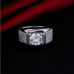 2019 toque para homens ct 5 ct promessa SONA sintético diamante homens anel de noivado 925 jóias de prata esterlina 18k banhado a ouro branco anel de casamento toque para homens ct barato