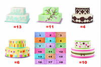 Wholesale Gum Paste Cake - Silicone Molds 18 style Fondant Gum Paste Mold Cake Decoration Mold